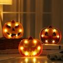 Halloween Pumpkin Mini Night Table Lamp Kids Plastic Bedside Battery Wall Night Lighting