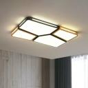 Modern Spliced Rectangle Ceiling Lamp Acrylic Living Room LED Flush Mount Fixture