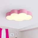 Simplicity Cloud Shaped LED Flushmount Lighting Acrylic Childrens Bedroom Ceiling Lamp