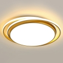 Minimalist Circle LED Ceiling Lamp Acrylic Bedroom Flush Mounted Lighting Fixture