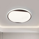 Round LED Flush Ceiling Light Minimalist Acrylic Bedroom Flush Mount Light Fixture