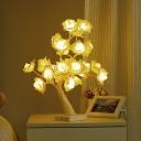 Blossom Tree Plastic Night Lamp Modern USB Charging LED Night Table Light for Girls Room
