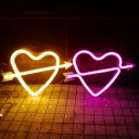 Cupids Arrow Shaped Plastic Night Light Romantic Decorative White Battery LED Wall Lamp