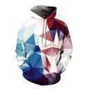 Leisure Men's Hoodie 3D Digital Graphic Pattern Front Pocket Long Sleeve Drawstring Hooded Sweatshirt