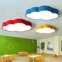Cloud Kindergarten LED Flush Mount Light Acrylic Cartoon Ceiling Flush Light Fixture