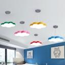 Childrens Cloud Shaped Hanging Lamp Acrylic Bedroom LED Chandelier Pendant Light