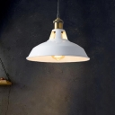 1 Bulb Pendant Light Antique Pot Cover Metal Hanging Light Fixture for Restaurant