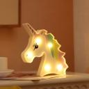 Animal Girls Bedroom Night Light Plastic Cartoon Battery LED Wall Lighting Ideas
