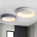 Metal Circular Flushmount Ceiling Lamp Nordic Style LED Flush Mount Lighting for Bedroom