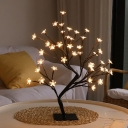 Metal Hand-Woven Tree Night Light Modern USB LED Table Lamp for Home Decoration