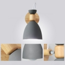 Kids Style Swivel Shade Sconce Lamp Metallic Single-Bulb Bedroom Wall Light in Wood