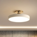Macaron Disc Shaped Ceiling Lighting Acrylic Bedroom LED Semi Flush Mount Light Fixture