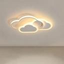 Cloud Childrens Bedroom Ceiling Fixture Metallic Cartoon LED Flush Mount Lighting