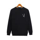 Cool Sherpa Liner Sweatshirt Deer Pattern Long Sleeve Crew Neck Relaxed Pullover Sweatshirt for Men