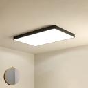 Black Plank Shaped Ceiling Light Fixture Simplicity LED Acrylic Flush Mount Lighting
