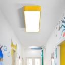 Hallway LED Flush Ceiling Light Minimalistic Flushmount Lighting with Rectangle Acrylic Shade