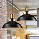 Pot Lid Metal Hanging Lighting Simplicity 1 Bulb Restaurant Pendant Light Fixture