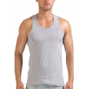 Summer Guys Tank Plain Scoop Neck Slim Fitted Tank Top