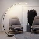 Arc LED Floor Standing Lamp Minimalist Acrylic Living Room Floor Light with Foot Switch