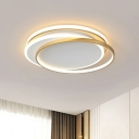 Acrylic Ring Flushmount Lighting Contemporary LED Flush Mount Ceiling Fixture for Bedroom