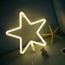 Cartoon Trinket Nightstand Light Plastic Girls Bedroom LED Wall Lighting in White