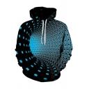 Retro Men's Hoodie 3D Digital Printed Kangaroo Pocket Drawstring Hooded Sweatshirt
