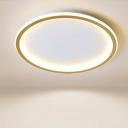 LED Disk Ceiling Flush Mount Light Nordic Acrylic Gold Finish Flushmount for Bedroom
