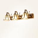 Flared Beveled Glass Sconce Lighting Simplicity Bathroom Vanity Light Fixture in Brass