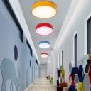 Circle Child Room LED Flush Mount Lighting Acrylic Modern Style Ceiling Light Flush Mount
