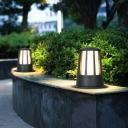 Aluminum Tapered Lawn Lamp Modern Single-Bulb Matte Black Ground Light for Courtyard
