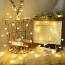 Modern Ball Shape LED Fairy Light Living Room Battery Powered String Lighting in White