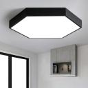 Hexagonal LED Flush Ceiling Light Fixture Nordic Acrylic Bedroom Flush Mount Lighting