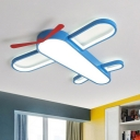Acrylic Plane Flush Ceiling Light Acrylic Blue LED Flush Mount Lighting Fixture for Nursery