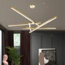 Aluminum Sticks LED Hanging Chandelier Minimalistic Suspension Pendant Light for Bedroom