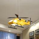 Vehicle Chandelier Lighting Kids Style Acrylic Yellow LED Pendant Light for Nursery