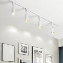 Tube Living Room Ceiling Track Lighting Metal Modernism Semi Flush Light Fixture
