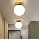 Glass Globe Flushmount Ceiling Lamp Simplicity 1-Light Flush Mount Light Fixture for Aisle