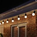 Bare Bulb LED Fairy Light Modern Plastic Black Solar Powered String Lighting for Outdoor