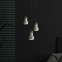 Grenade Shaped Terrazzo Hanging Light Nordic 1-Light Suspension Lamp for Bedroom