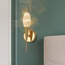 Novelty Minimalist Tapered Wall Lamp Crystal Bedside Wall Sconce Lighting Fixture