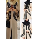 Ethnic Womens Robe Leaf Pattern Maxi V Neck Long Flare Sleeve Robe Dress in Apricot