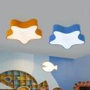 Acrylic Star Flush Light Contemporary LED Flush Ceiling Light Fixture for Child Room