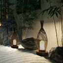 Brown Fish Shaped Stand Up Lamp Asian 1 Bulb Floor Lighting with Acrylic Lampshade