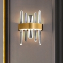 K9 Crystal Icicles Wall Lighting Simplicity Golden LED Sconce Wall Light for Living Room