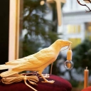 Decorative Bird Statuette Small Night Light Resin Single Bedroom Table Light Kit