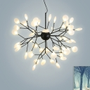 Black Tree Branch Chandelier Modern Stylish Acrylic LED Ceiling Suspension Lamp for Living Room