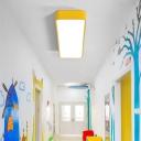 Simplicity Rectangle LED Flush Mount Acrylic Kindergarten Flushmount Ceiling Light