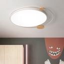 Simplicity LED Flush Ceiling Light Orbit Flushmount Lighting with Acrylic Shade for Bedroom