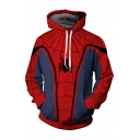 Stylish Unique Red Spider Far From Home Cool 3D Pattern Long Sleeve Unisex Sport Loose Hoodie