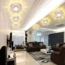 Flower Aisle Spotlight Ceiling Lamp Crystal Minimalist LED Flush Mounted Light in Clear